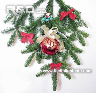 Decorated pine branch for your main door