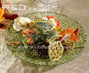 platter made with little green crystals