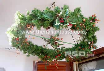 outdoor Christmas decorations, led lights on the railing and on the ceiling of your balcony and terrace