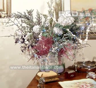 White xmas arrangement