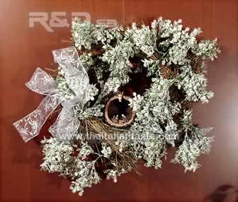 Christmas wreath with a Nativity scene
