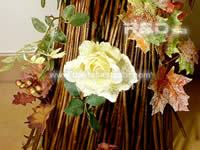 other detail of the bundle of twigs decorated for Holiday Season