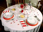 the whole red table for valentine's day