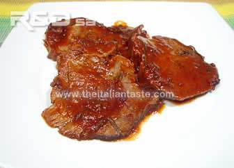 Pot roast beef in tomato sauce