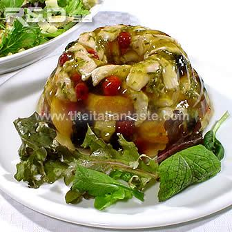 aspic made with turkey meat and fruit