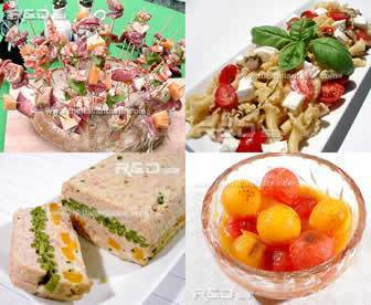 summer menu with cold dishes prepared in advance