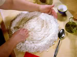 pizza dough making with active dried yeast