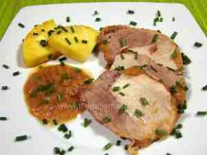Pineapple-flavoured roast pork - Our recipe