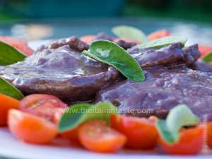 Veal Marsala (veal escalopes cooked in Marsala-and-butter juice
