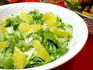 Lettuce with oranges, side dish
