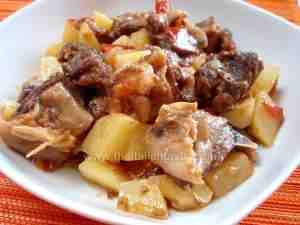 mutton and potato stew, italian recipe of the south