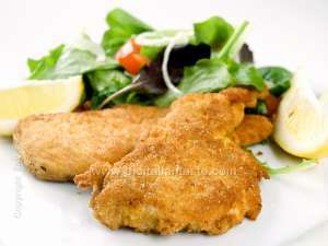 Breaded and fried veal chops, Milan-style