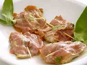 Roman saltimbocca wrapped in ham and sage