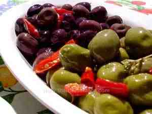 dressing black and green olives
