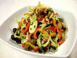 Bell pepper and fennel salad